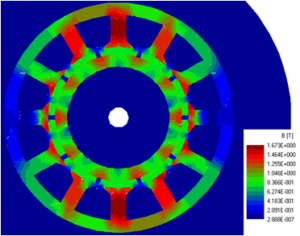 Magnetic and thermal study for electric motor